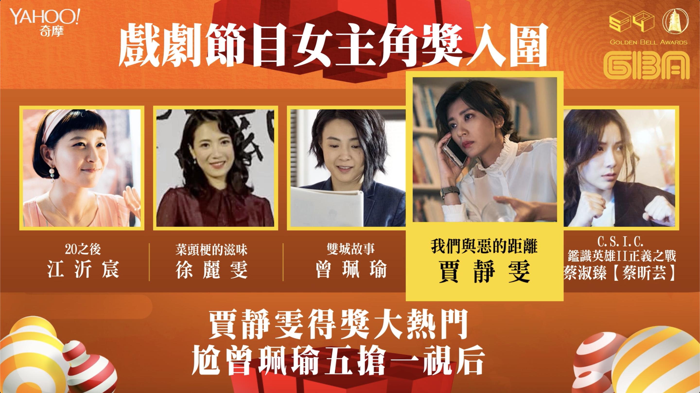 賈靜雯 - 金鐘54/戲劇節目女主角獎