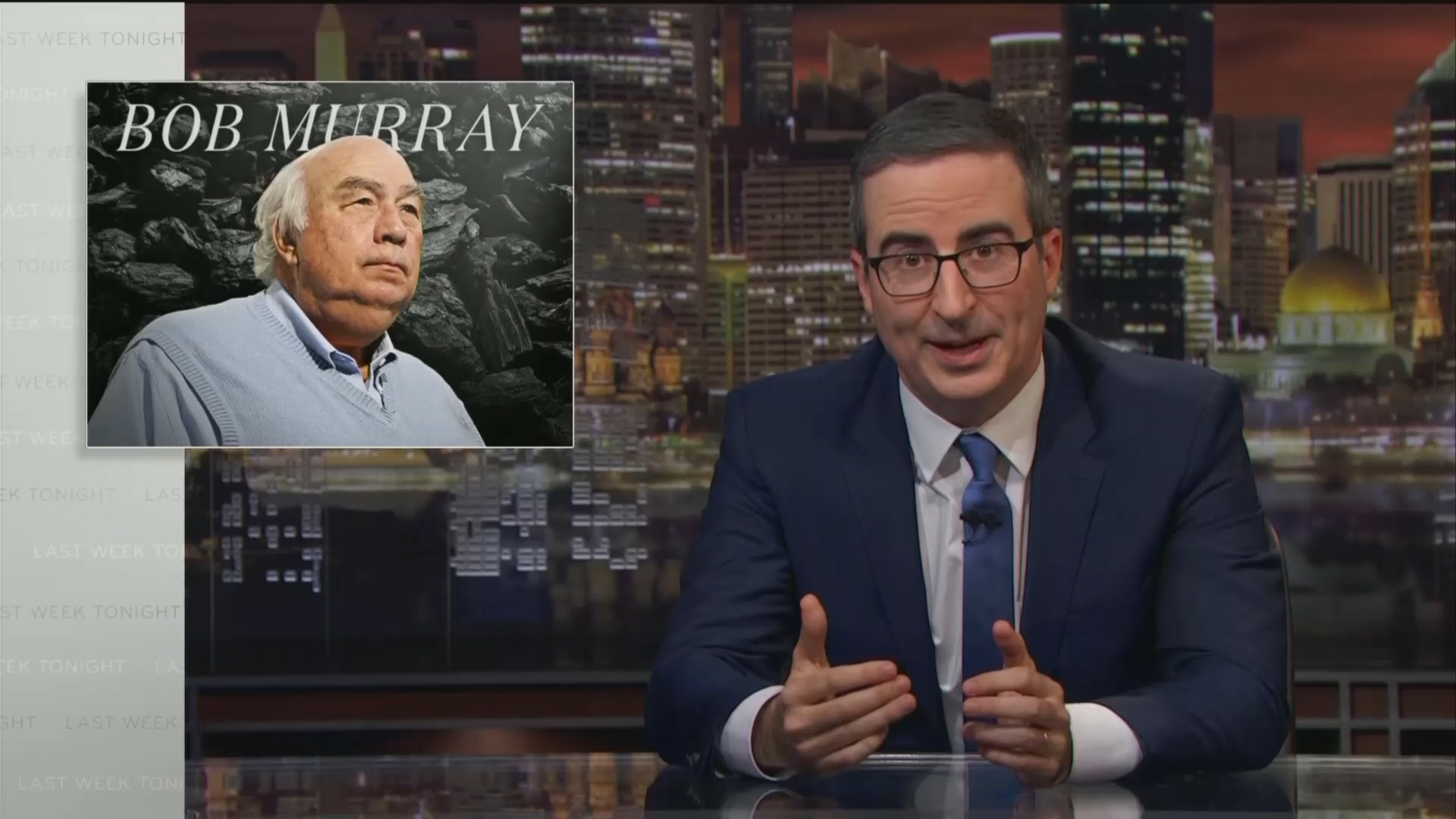 John Oliver gives background on lawsuit with Bob Murray
