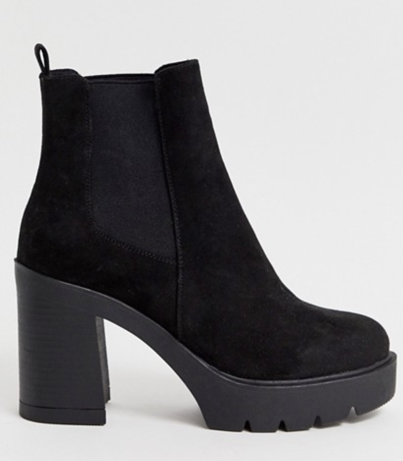 ASOS Design Elderberry chunky chelsea boots in black