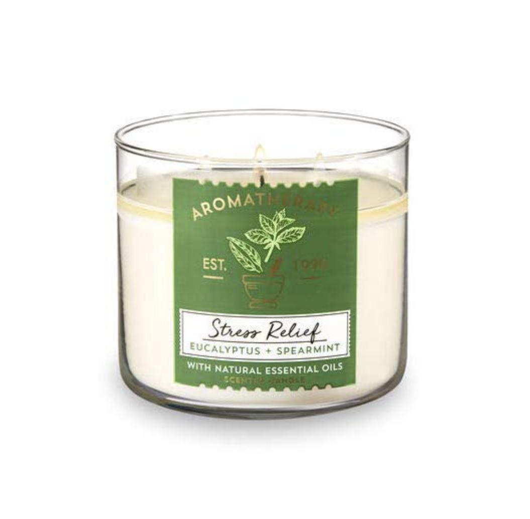 Bath & Body Works, Aromatherapy Stress Relief Eucalyptus Spearmint Candle