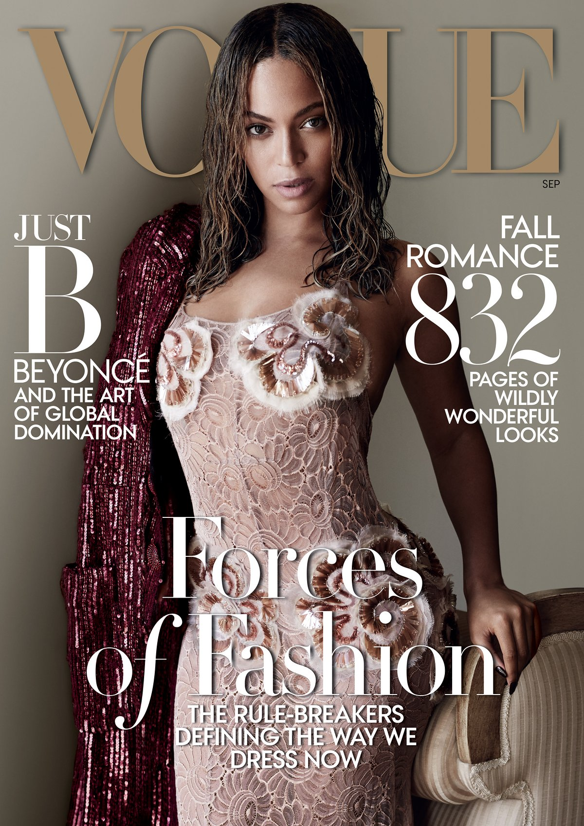 Beyoncé covers Vogue 2015 September issue