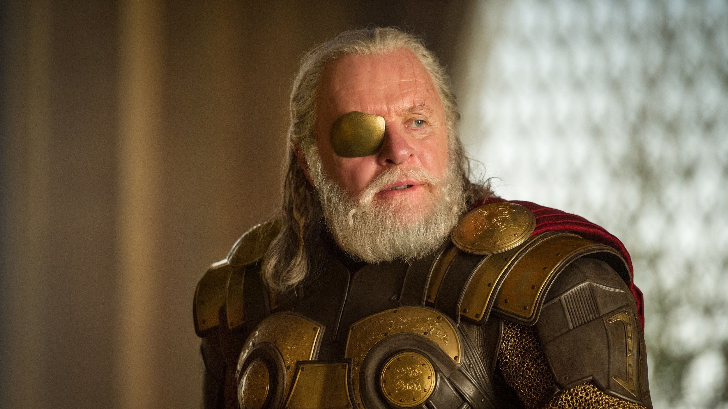 Anthony Hopkins as Odin in 2013 blockbuster 'Thor: The Dark World'. (Credit: Marvel)
