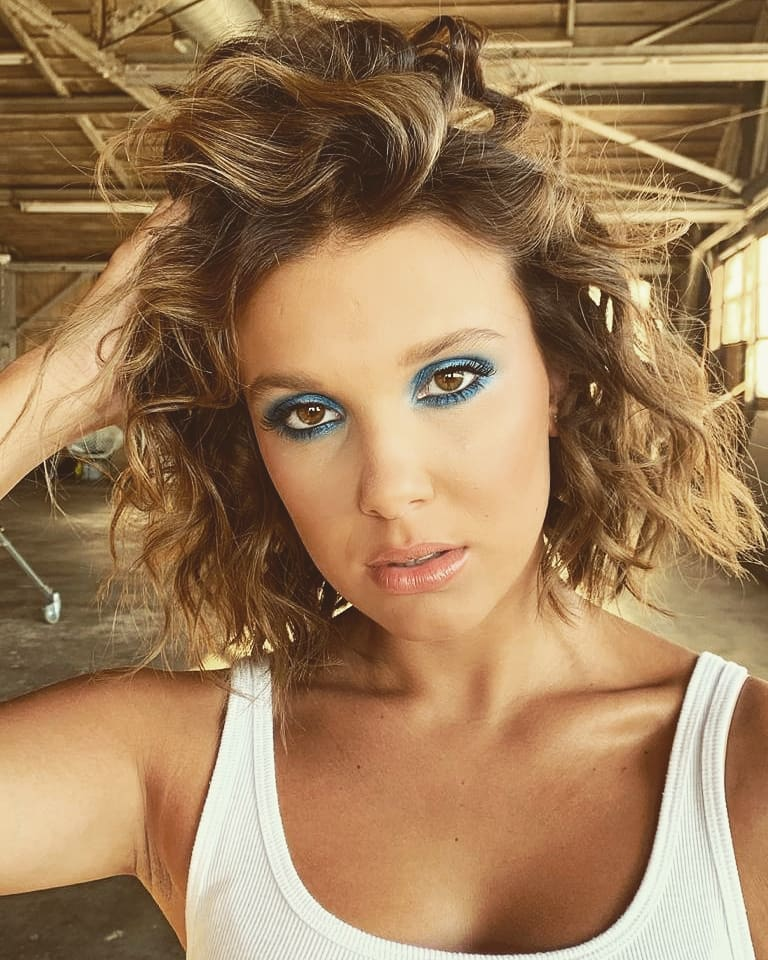 Millie Bobby Brown criticized for makeup and hair on Instagram