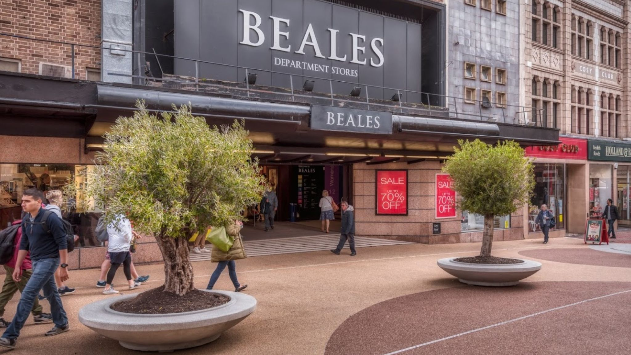 A Beales department store in Bournmouth. The company is reportedly on the brink of collapse. Photo: Beales