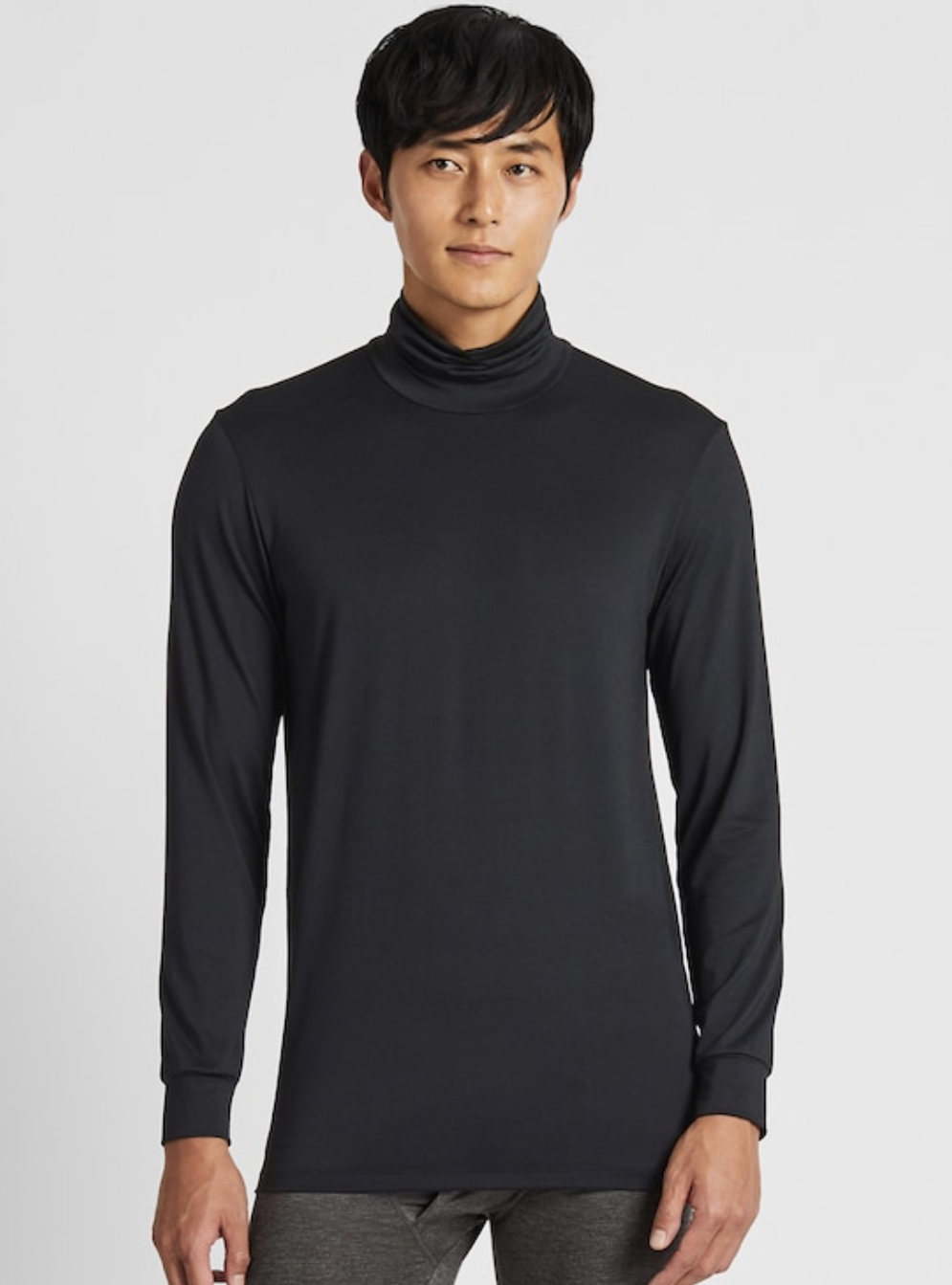 Men Heattech Turtleneck Long-Sleeve T-Shirt