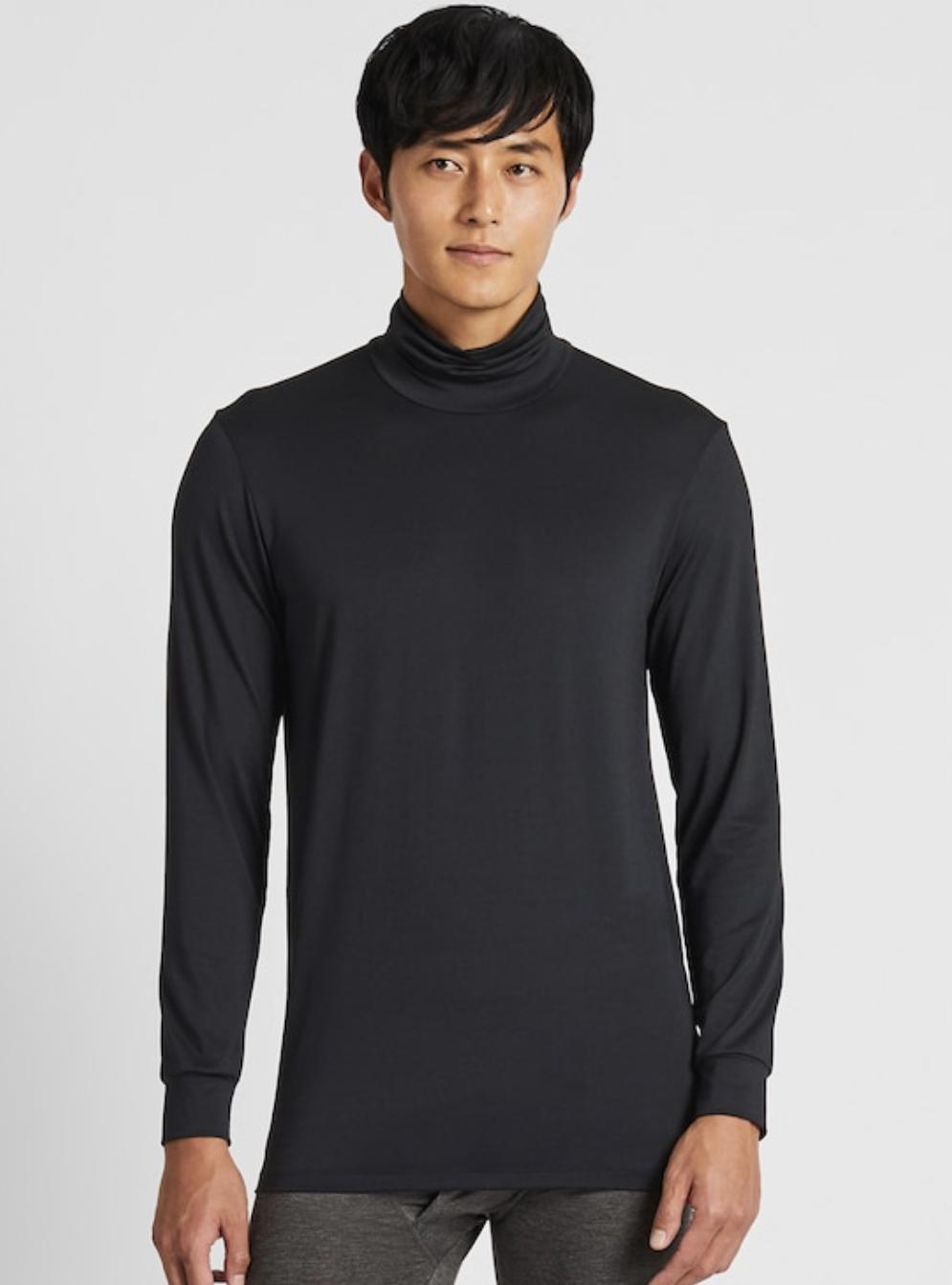 Men Heattech Turtleneck Long-Sleeve T-Shirt