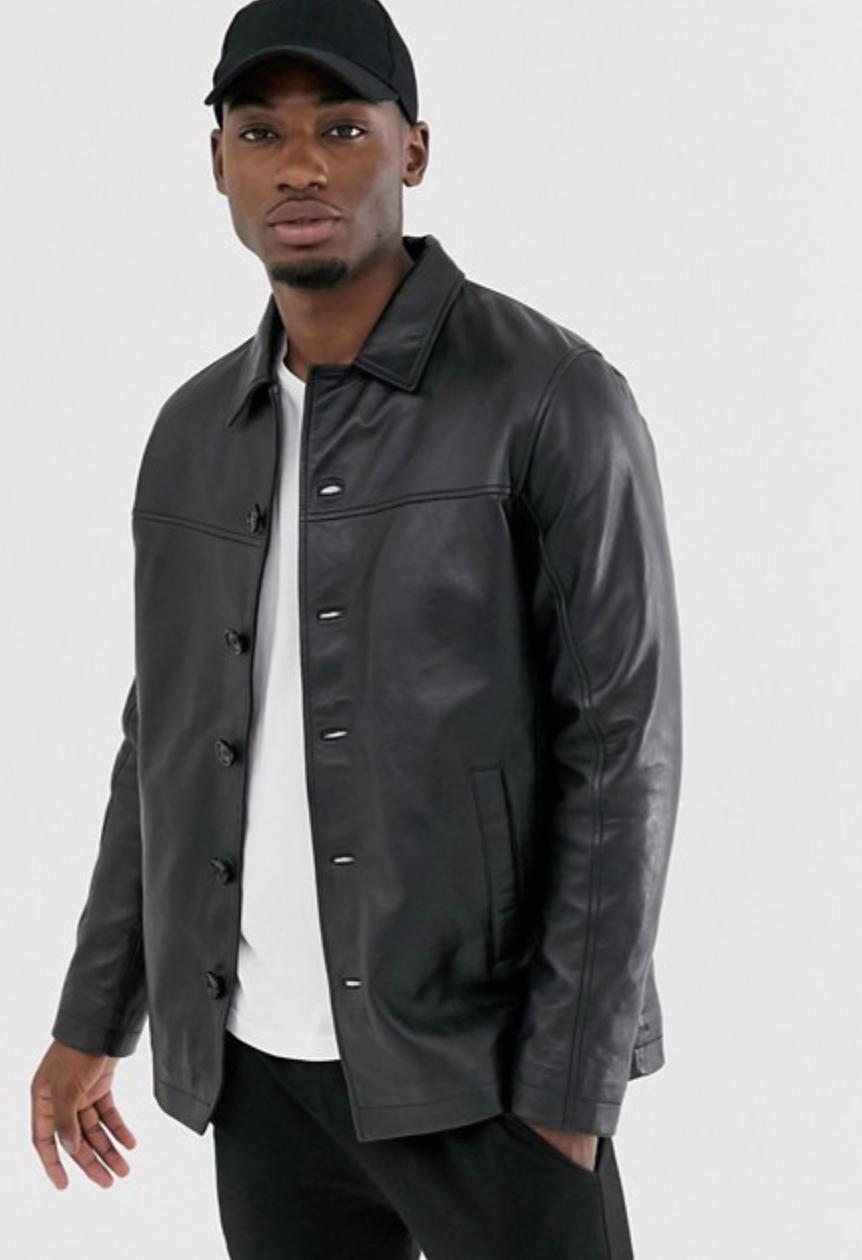 Barneys Originals Reefer Leather Jacket