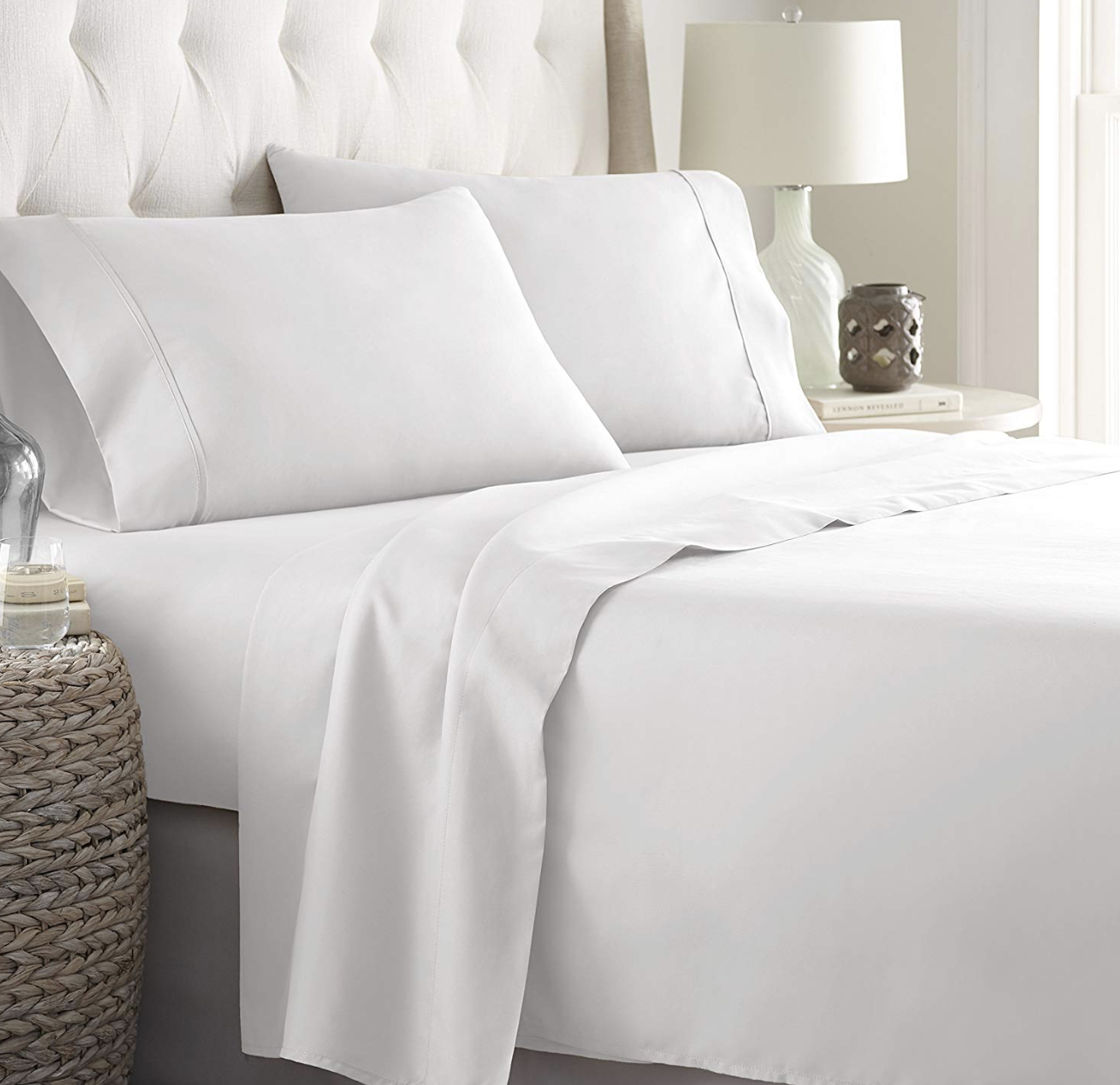 HC Collection Hypoallergenic Sheet and Pillow Case Bedding Set