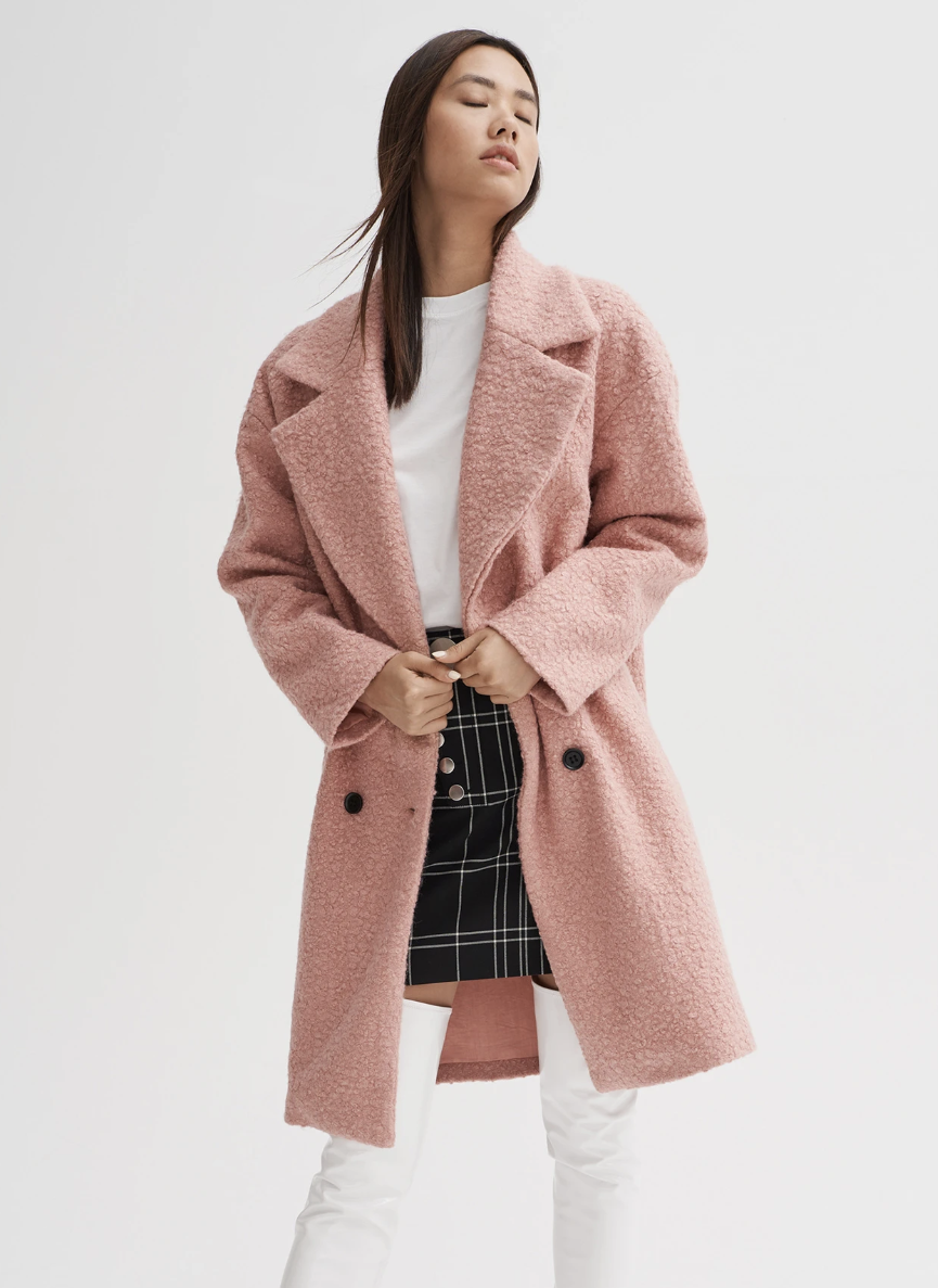 Noize Kort Faux-Wool Coat