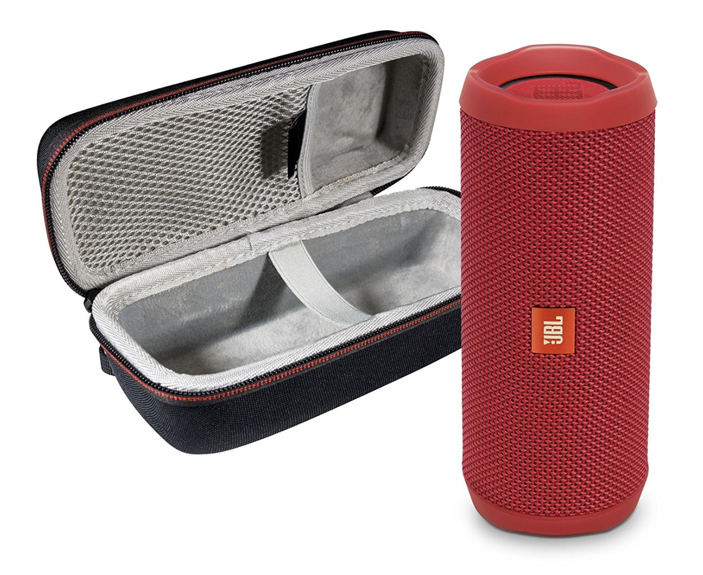 JBL Flip 4 Portable Bluetooth Wireless Speaker Bundle with Protective Travel Case