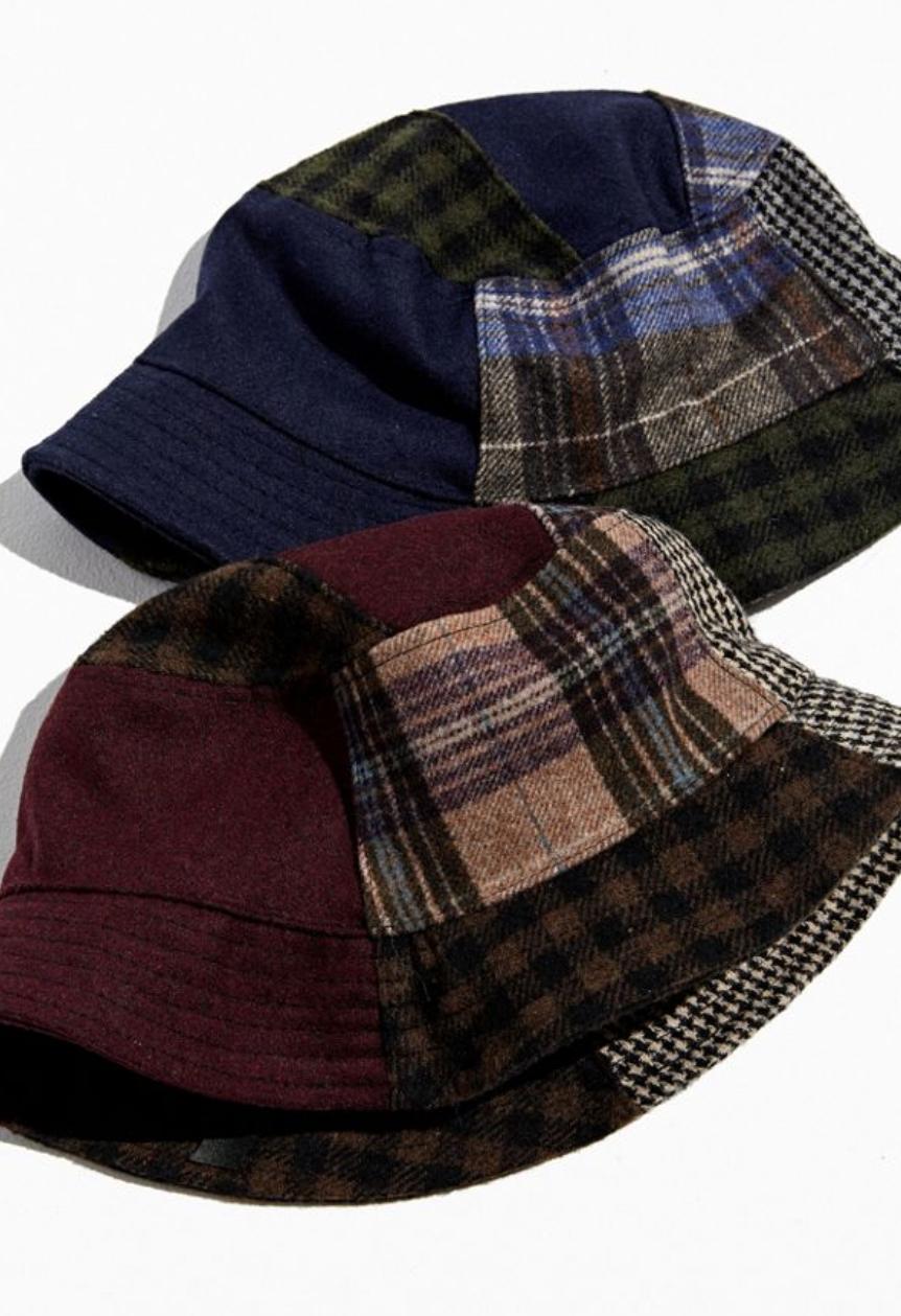UO Patchwork Menswear Bucket Hat