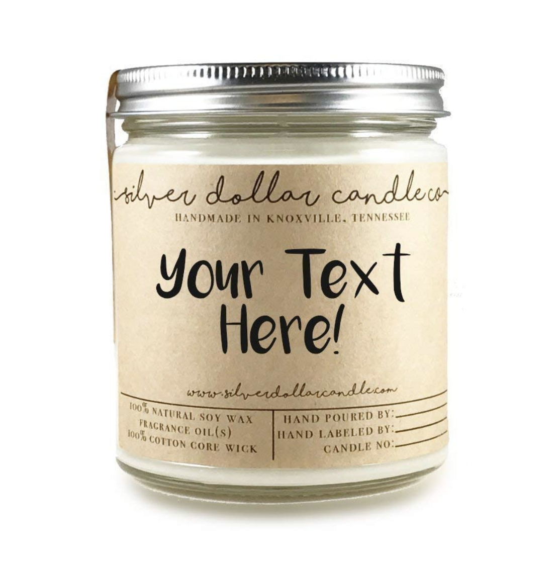 Personalized 8oz Scented Soy Candle
