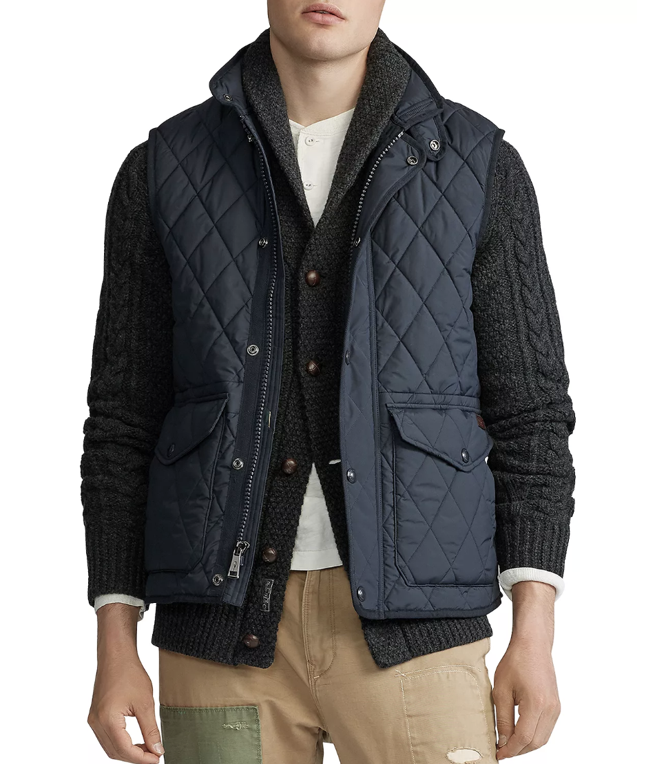 The Iconic Quilted Vest from Polo Ralph Lauren