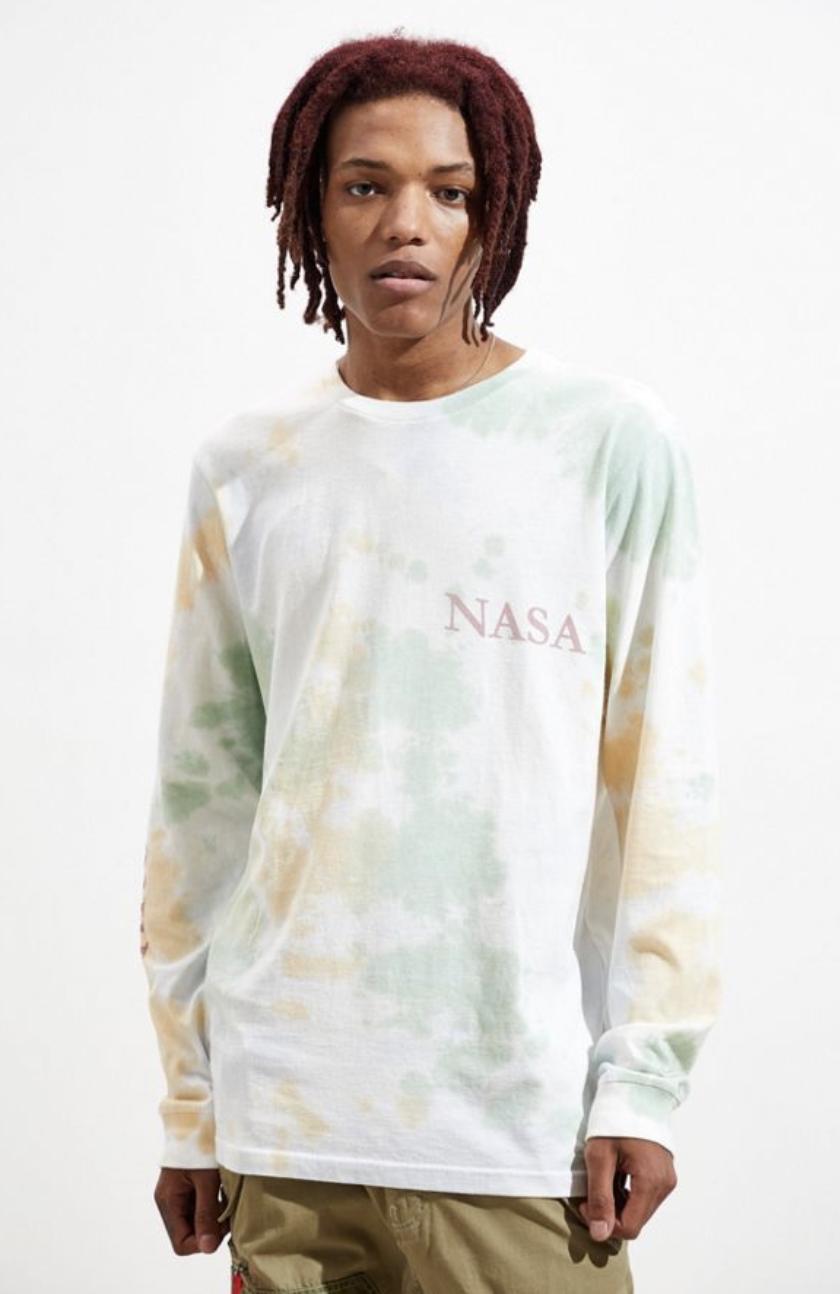 NASA Washed Tie-Dye Long Sleeve Tee