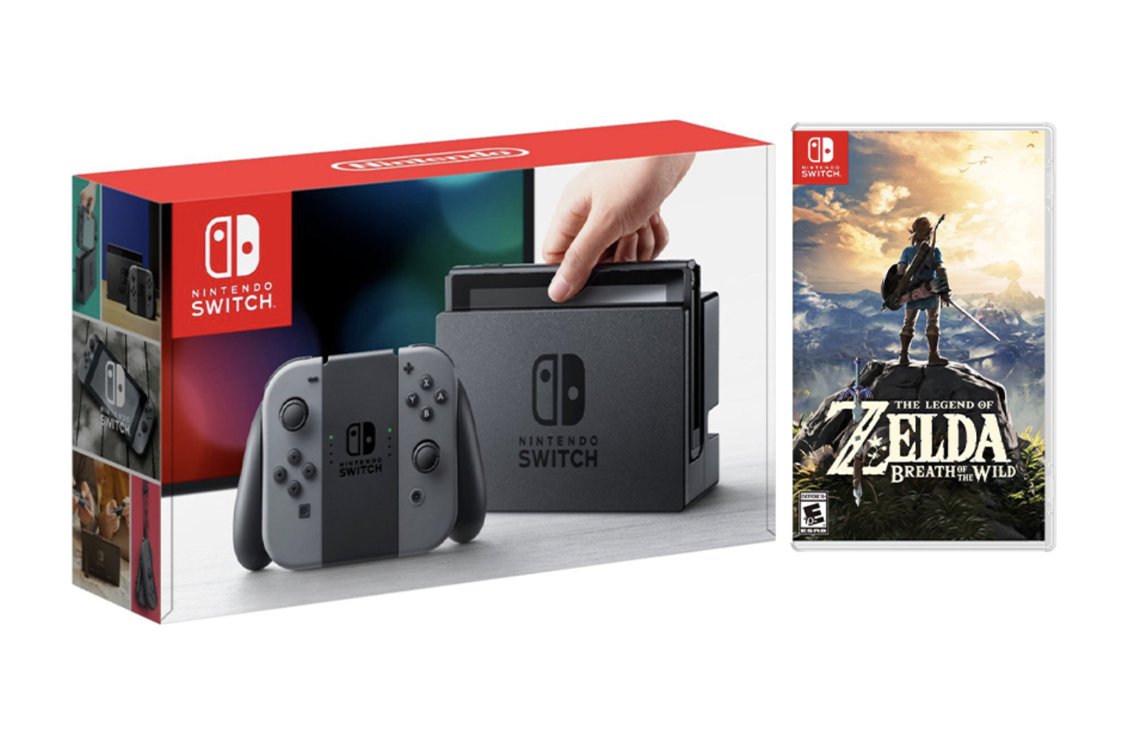 Nintendo Switch Gray Joy-Con Console Bundle with The Legend of Zelda: Breath of the Wild