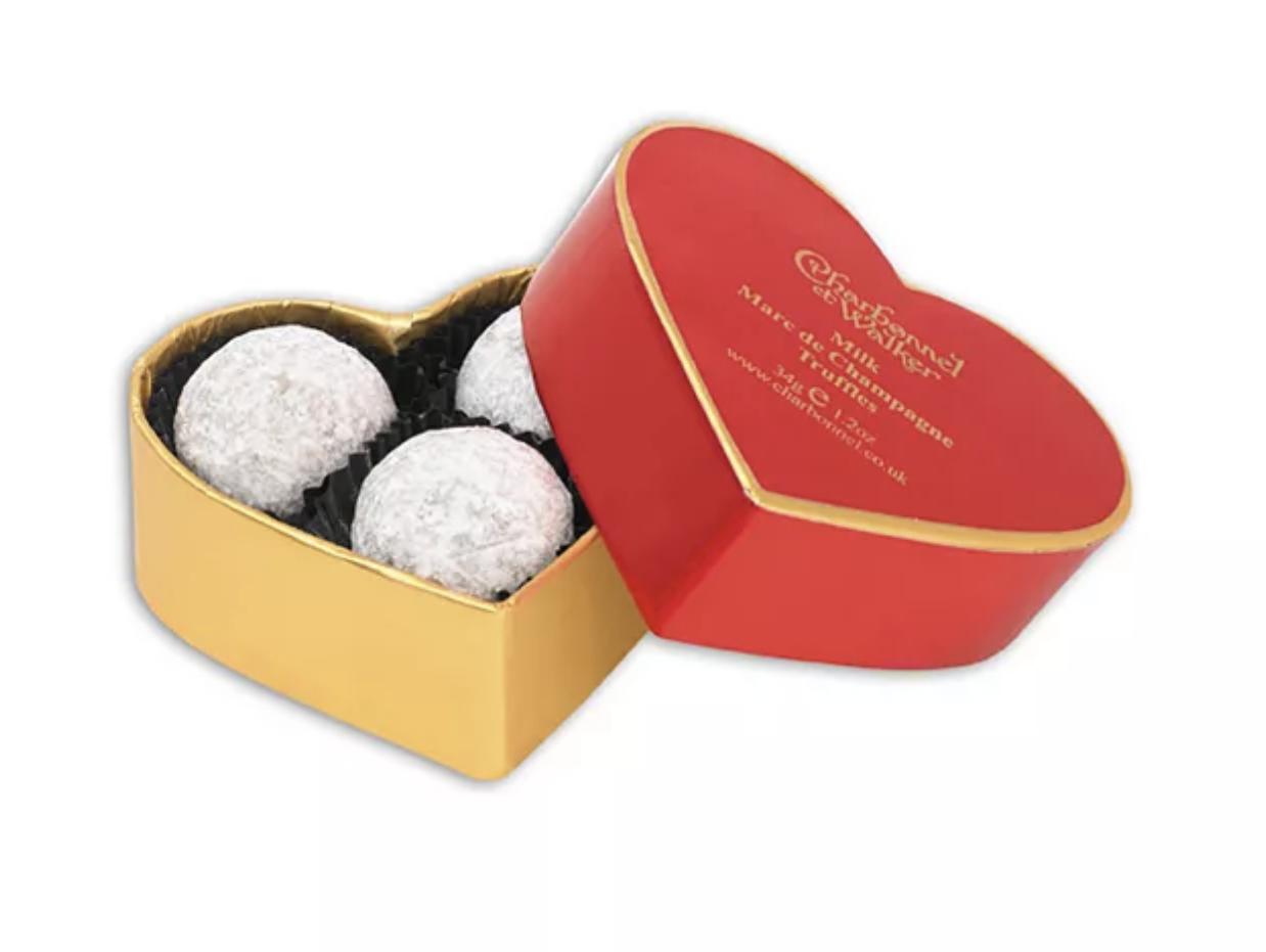 Charbonnel et Walker Mini Red Heart Dusted Truffles
