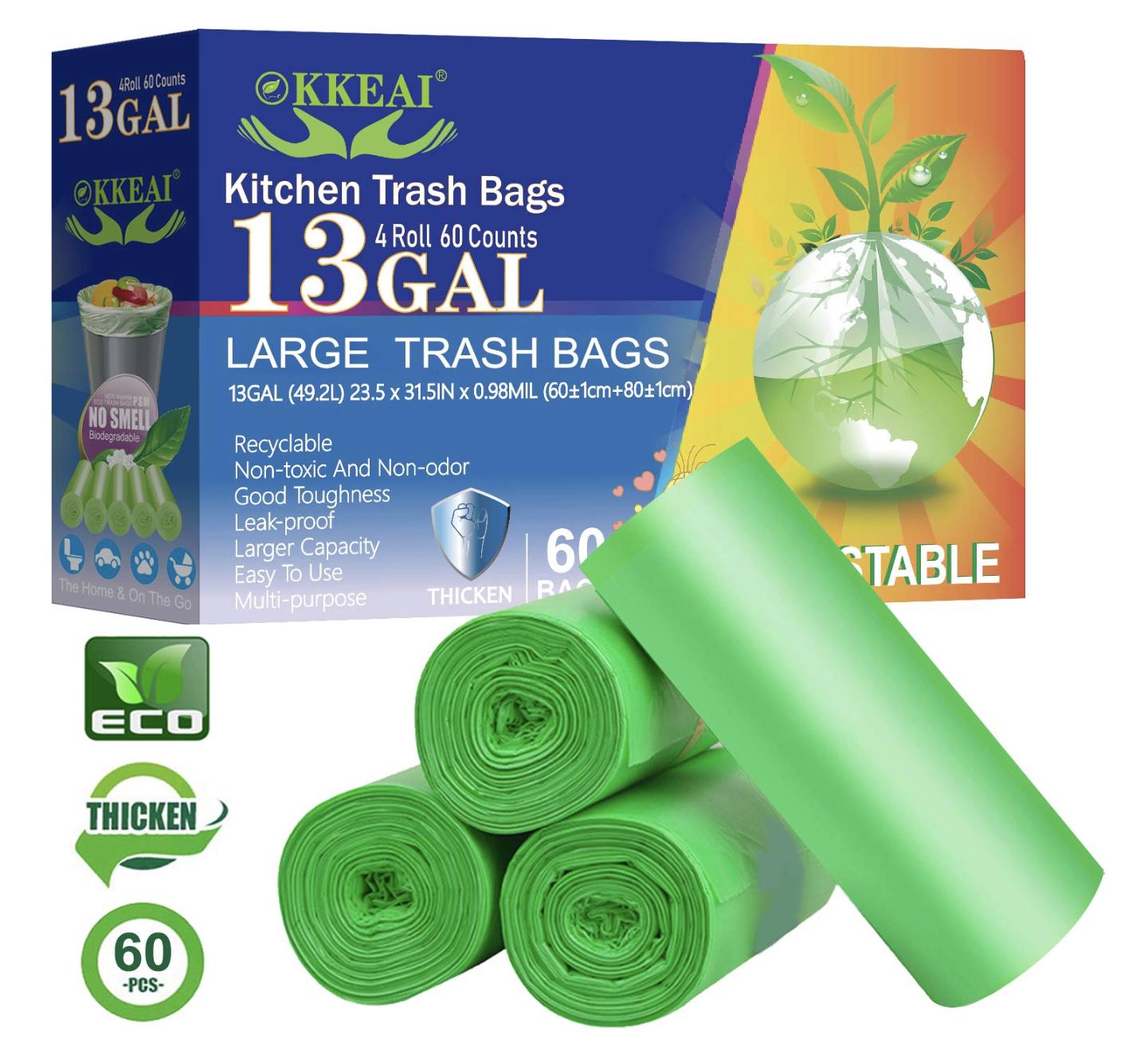 Biodegradable Trash Bags 13 Gallon