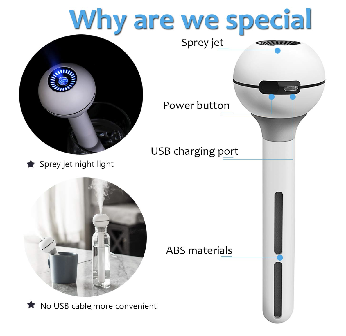 Aveloki USB Humidifier with Built-In Battery specs