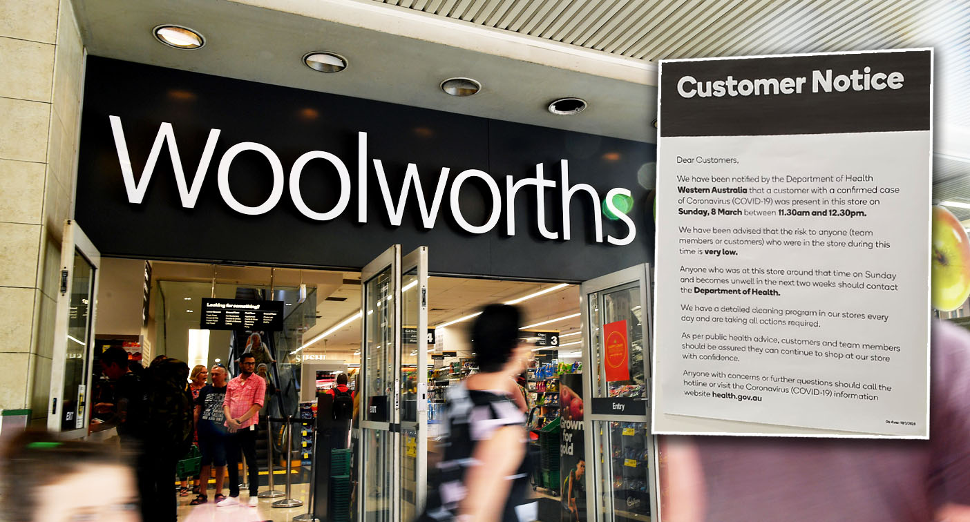 Coronavirus: Woolworths Canning Vale warning for shoppers