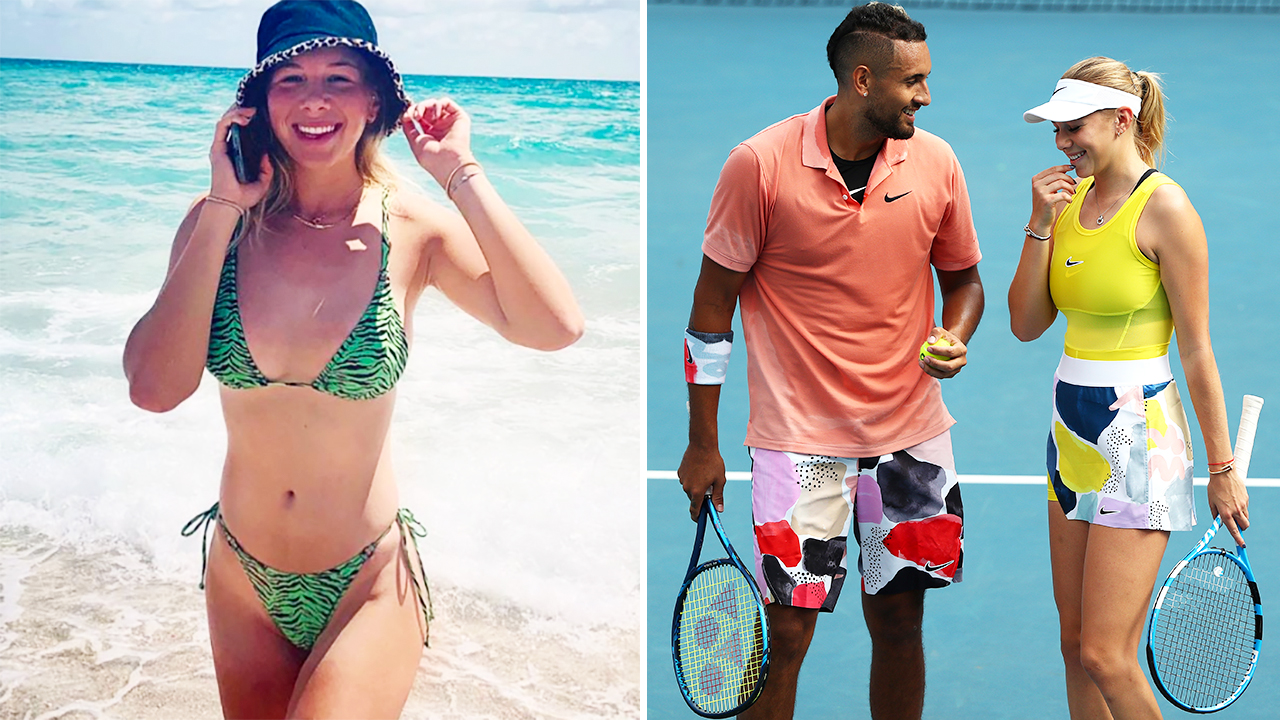 Bikinis in female players tennis Britain's female