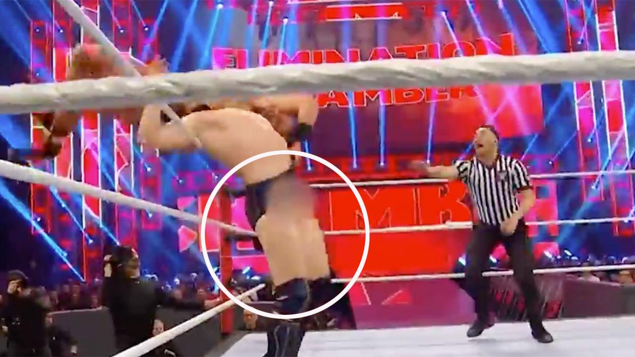 WWE wrestler Daniel Bryan with funny wardrobe malfunctions