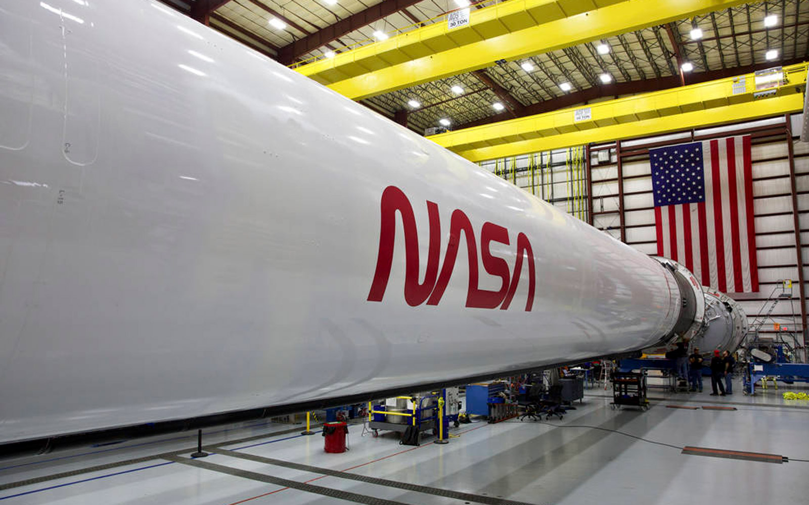 NASA's iconic 'worm' logo will adorn the Falcon 9 Crew Dragon rocket