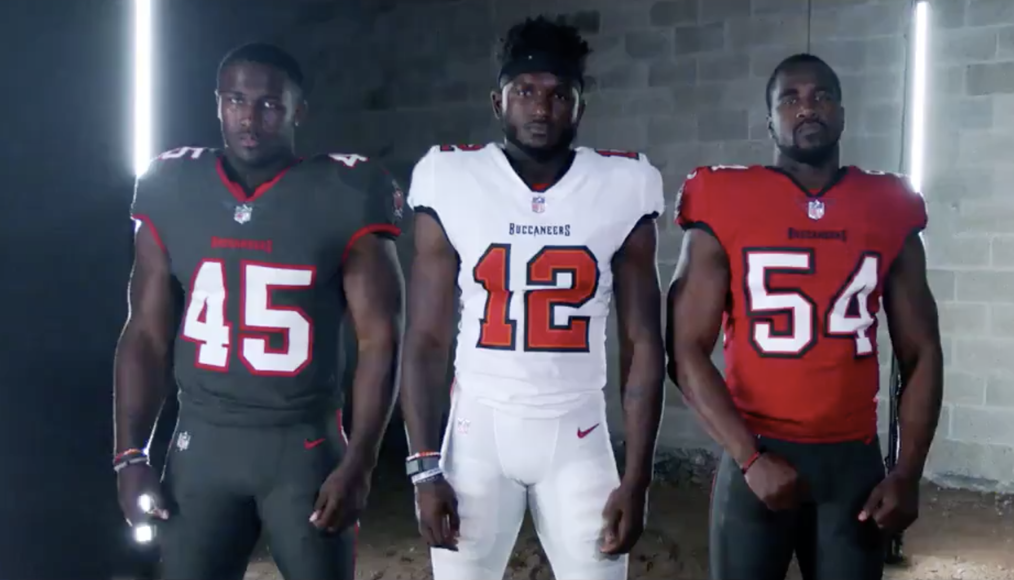 buccaneers unveil brand new uniforms what tom brady will wear yay or nay tampa bay buccaneers unveil new uniforms so you can buy that tom brady no 12 now