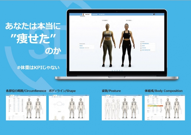 "Photo of The fitness effect is obvious with a 3D avatar. iPad-based business system ""BODYGEE"" supports Japanese-Engadget Japan version"