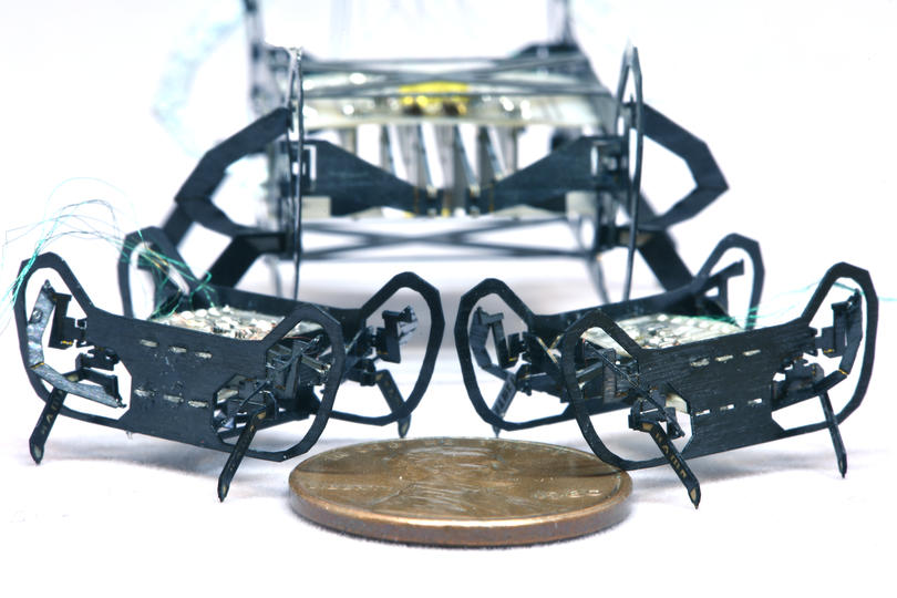 Harvard shrank its insect-inspired microrobot to the size of a penny