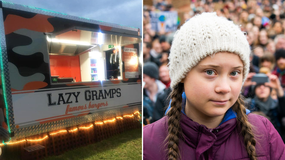 Vegans hit out at burger van's 'disgusting' Greta Thunberg-themed meal