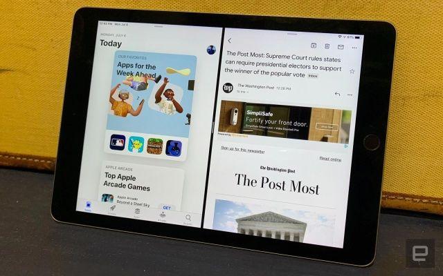 Apple iPad Gmail split-view multitasking