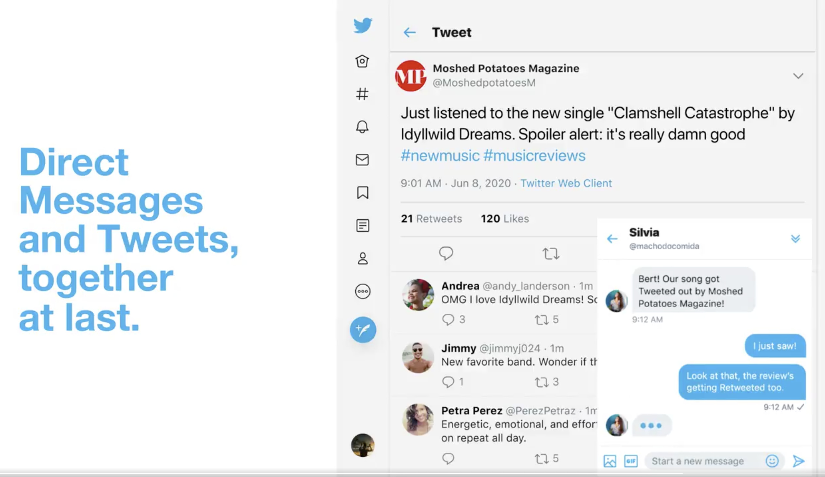 Twitter's new DM feature puts a chat box in the browser   Engadget