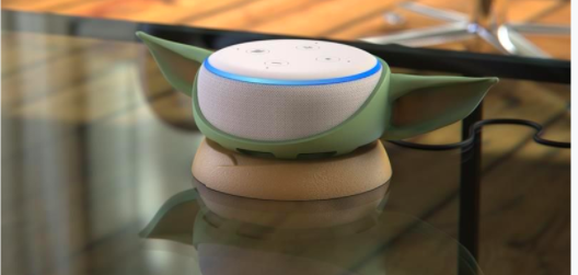 Oh hey, they make Baby Yoda ears for your Echo Dot now