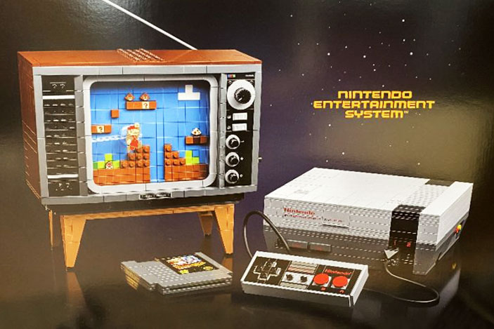 Lego is teasing a buildable NES console set