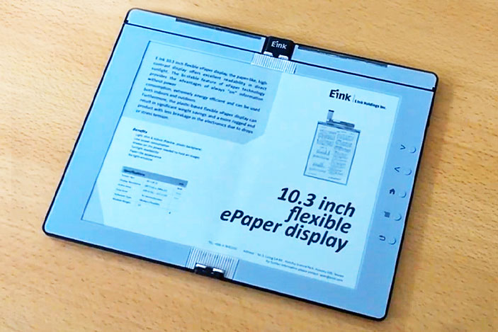 E Ink shows off a foldable e-reader prototype you can take notes on