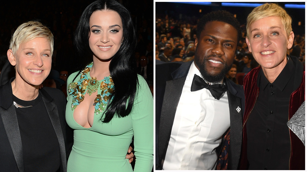 Katy Perry, Kevin Hart slammed over Ellen DeGeneres support