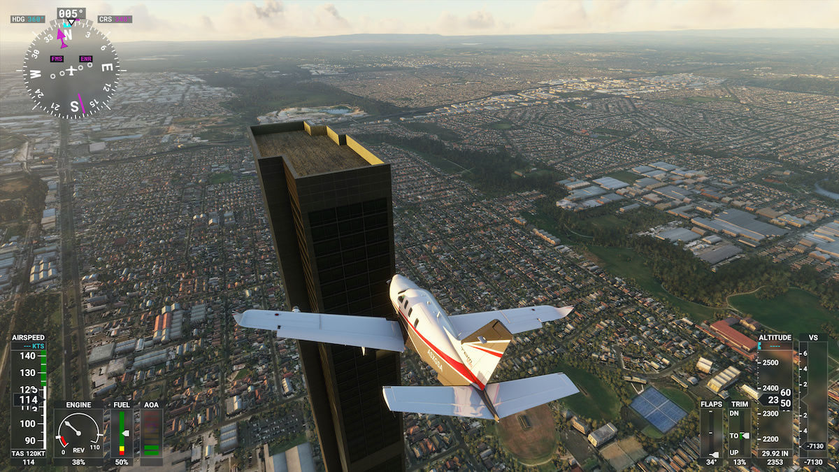 MS Flight Simulator Melbourne Citadel