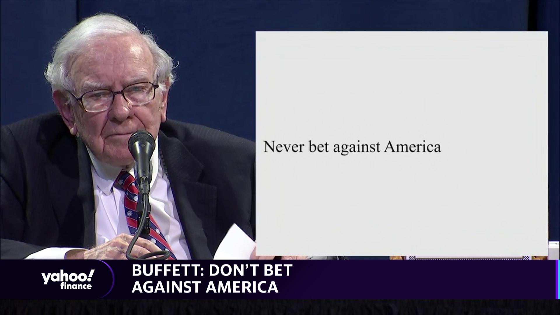 Warren Buffett: 'Don't bet against America'