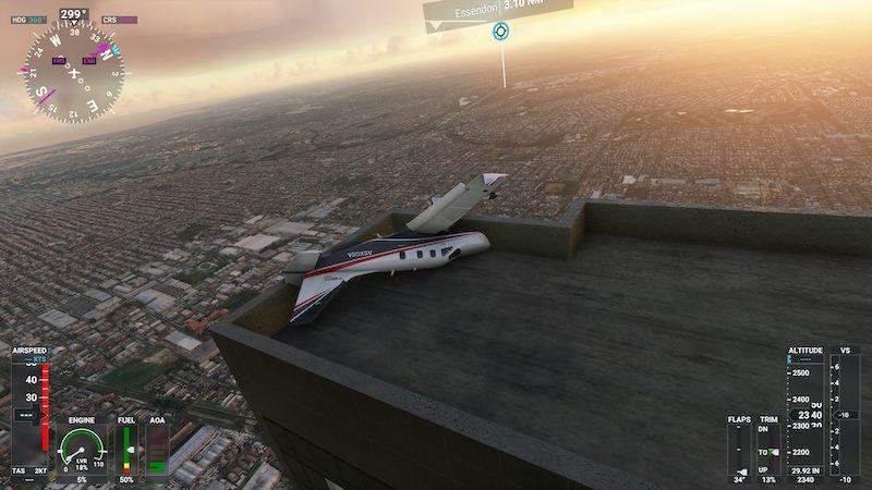 MS Flight Simulator Melborne