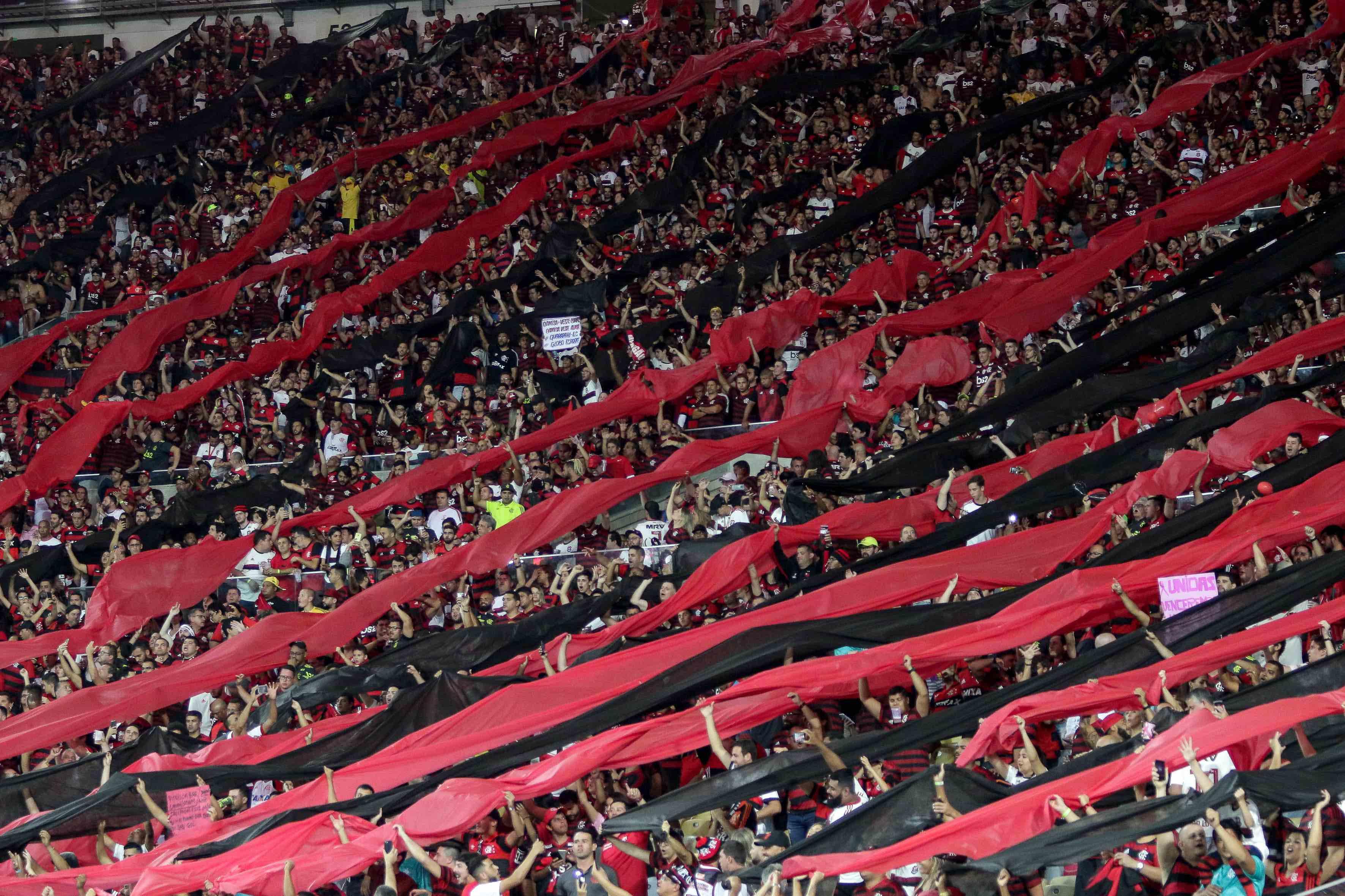 Foto da torcida do Flamengo