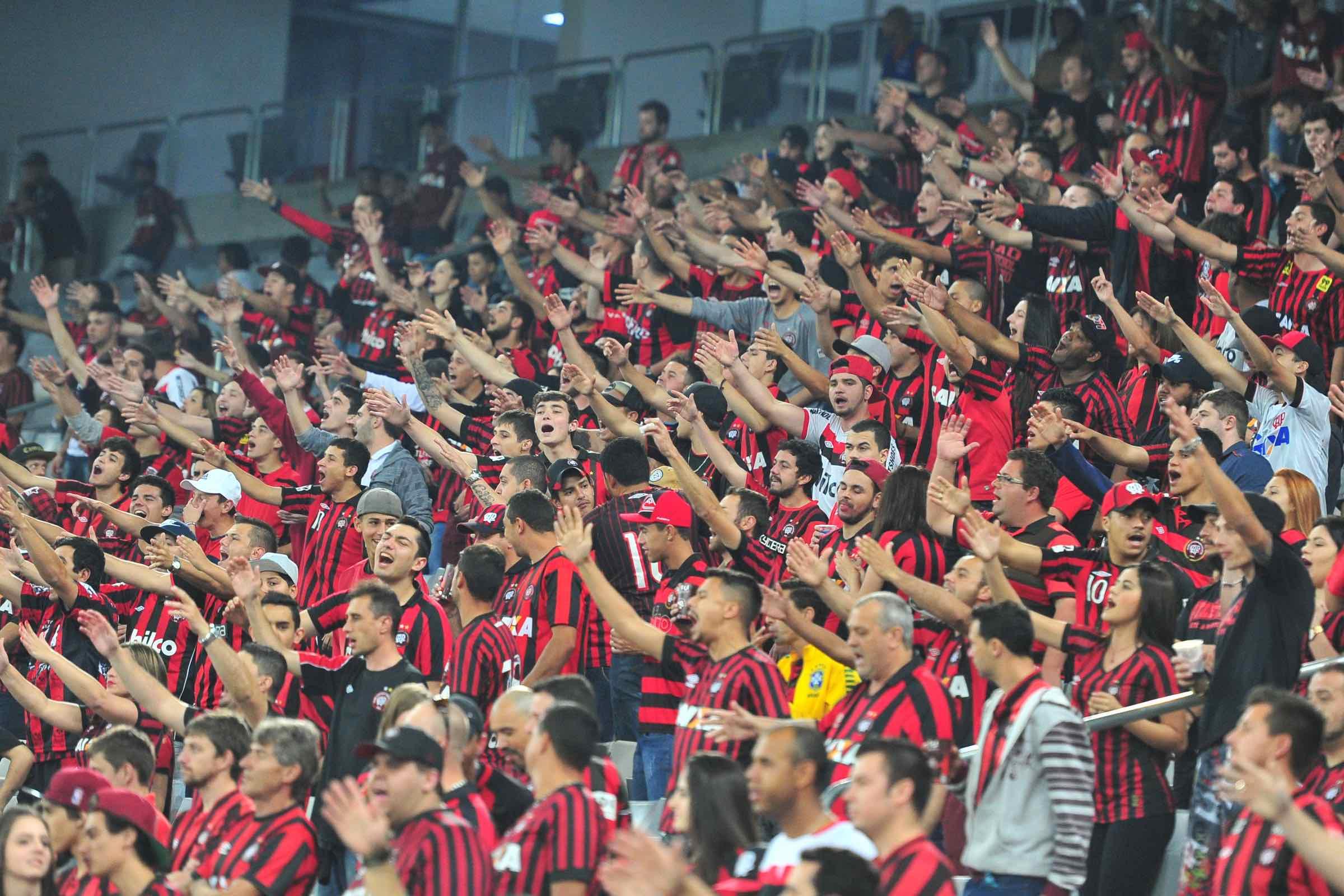 Foto da torcida do Athletico Paranaense
