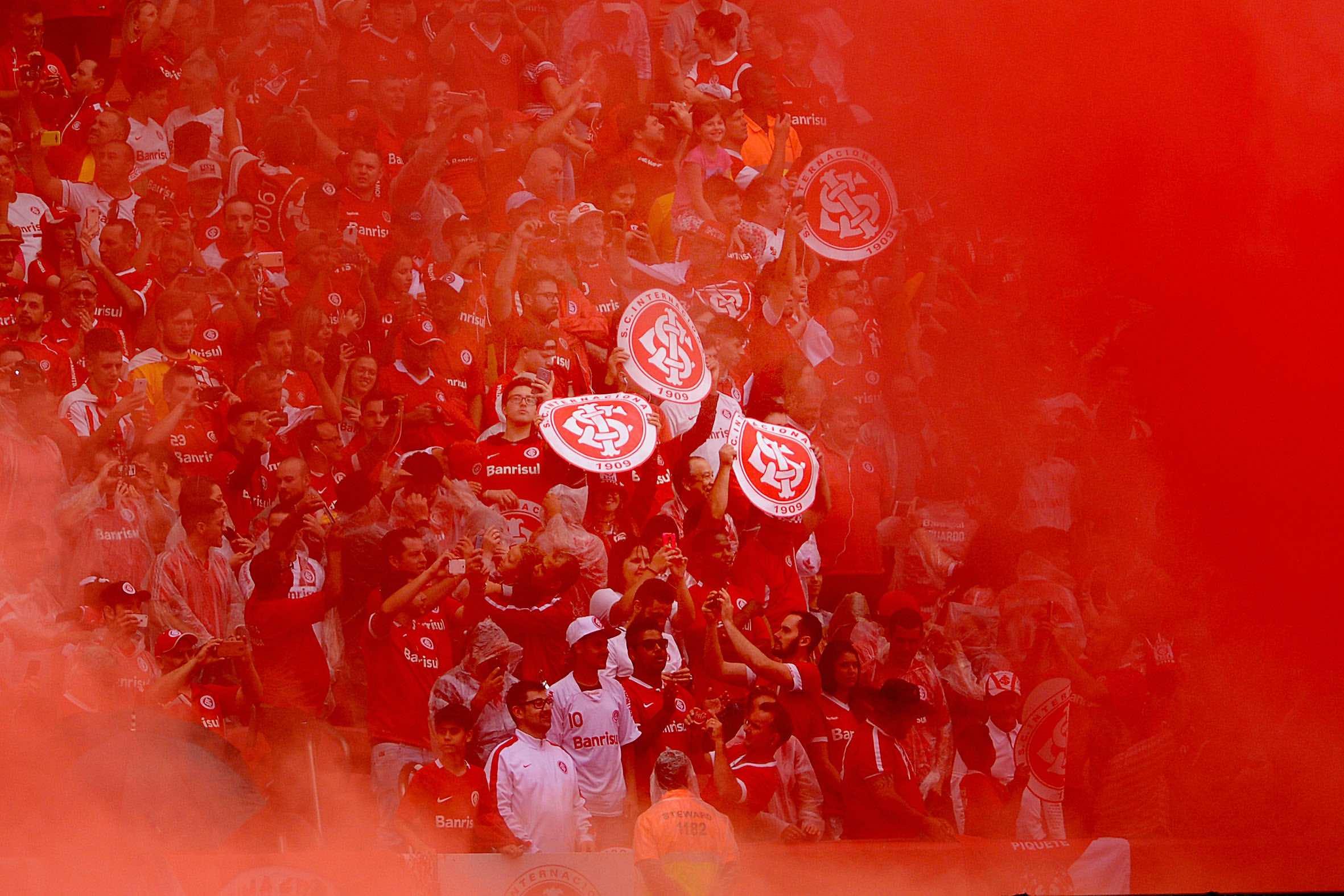 Foto da torcida do SC Internacional