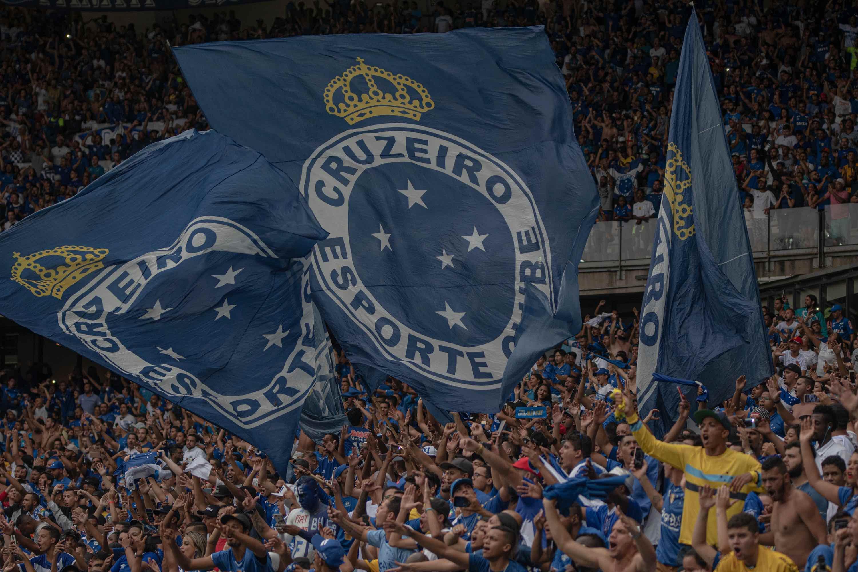 Foto da torcida do Cruzeiro