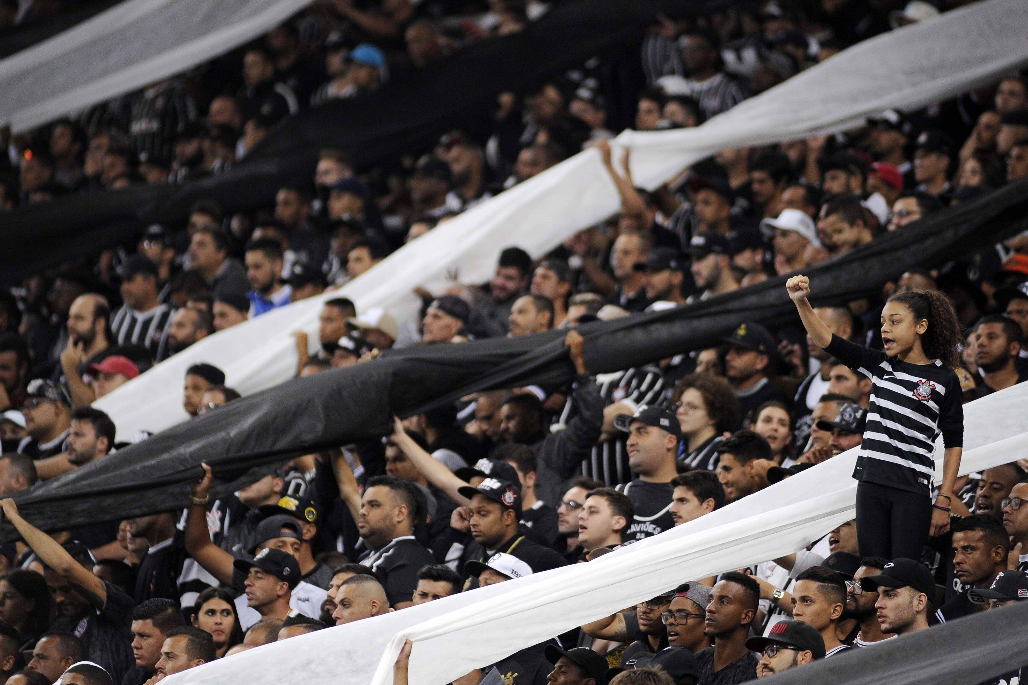 Foto da torcida do Corinthians