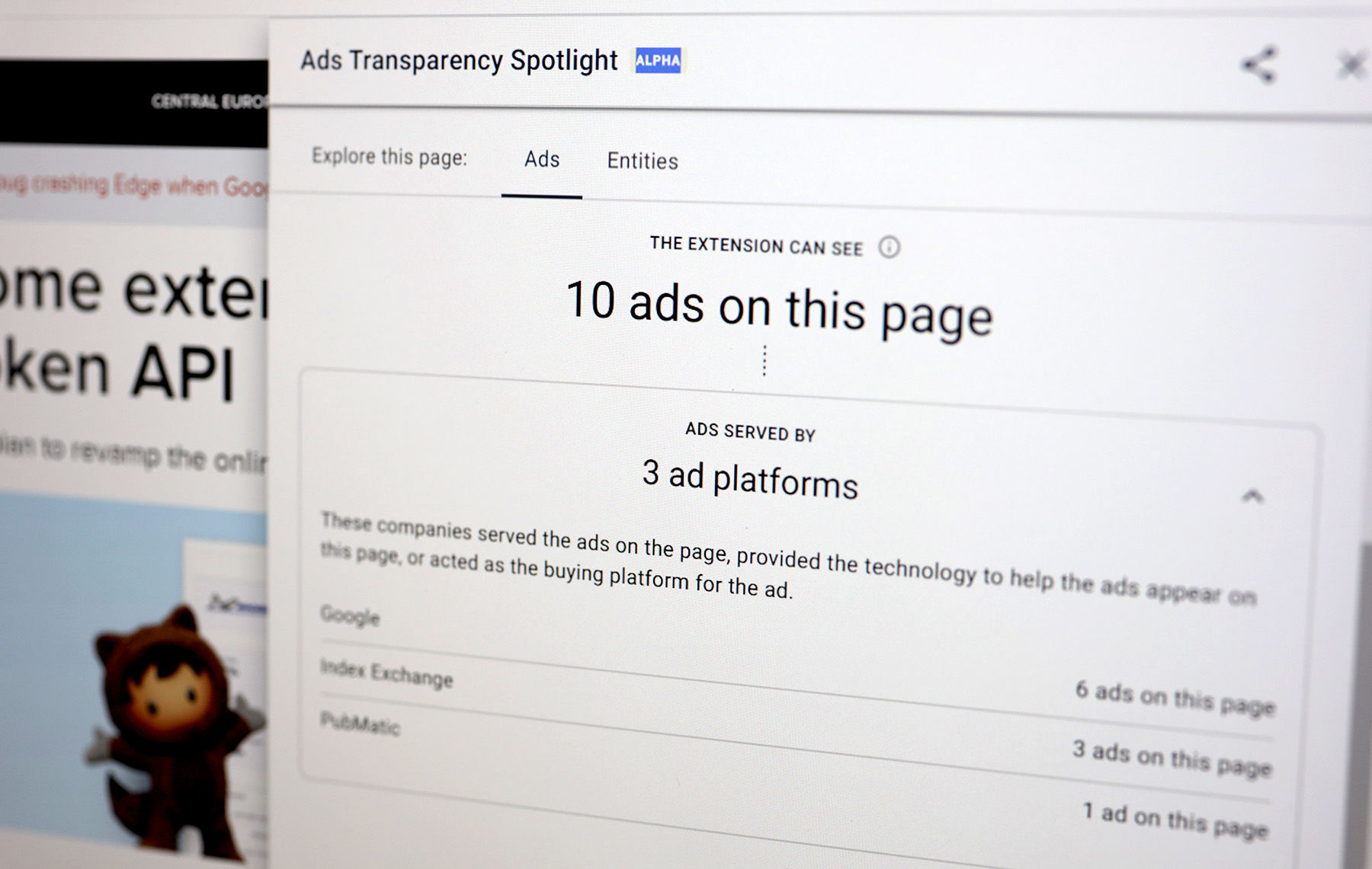 Ads Transparency Spotlight
