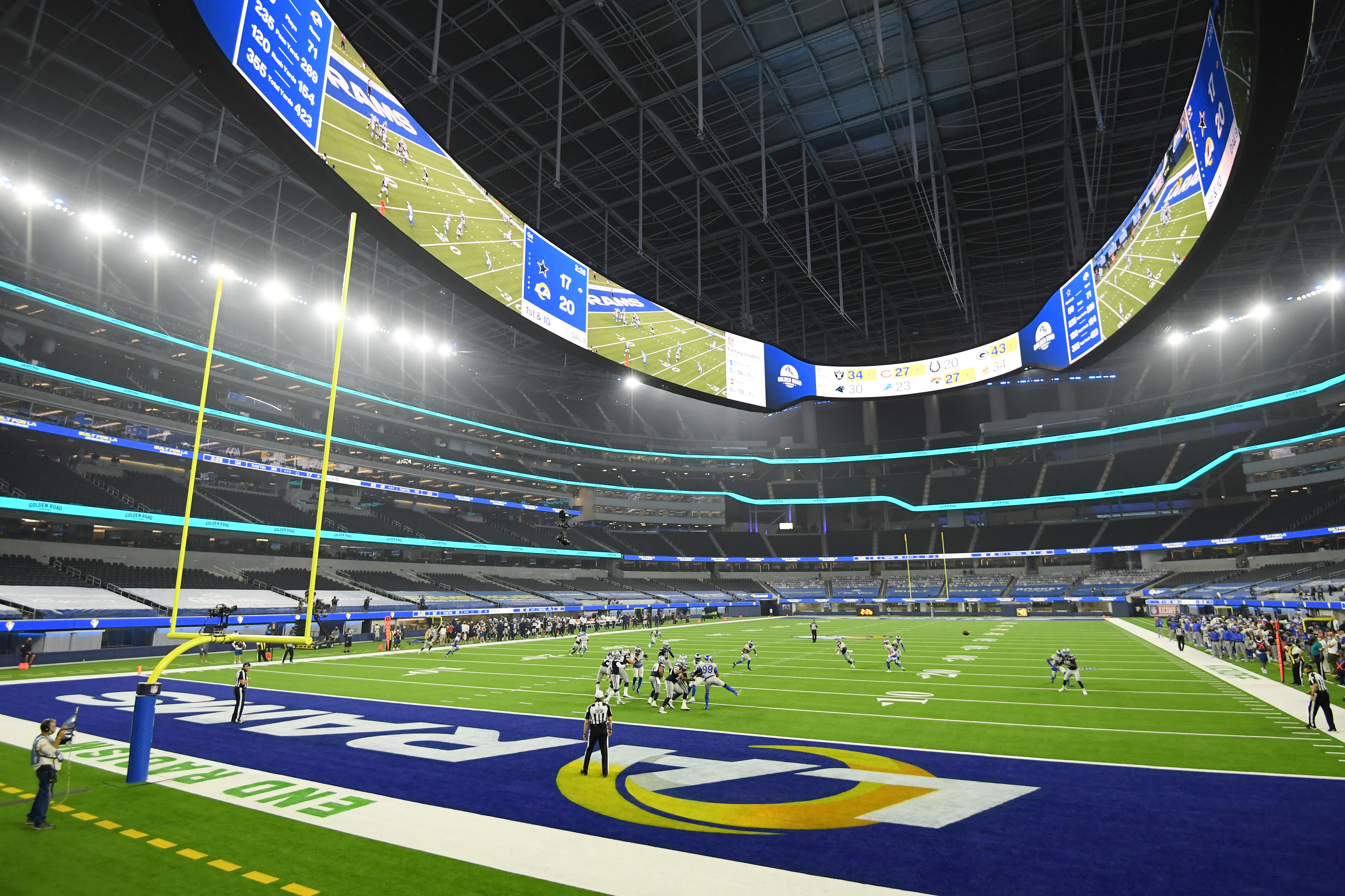 Nfl Sofi Stadium Opens To Surreal Backdrop Without Fans