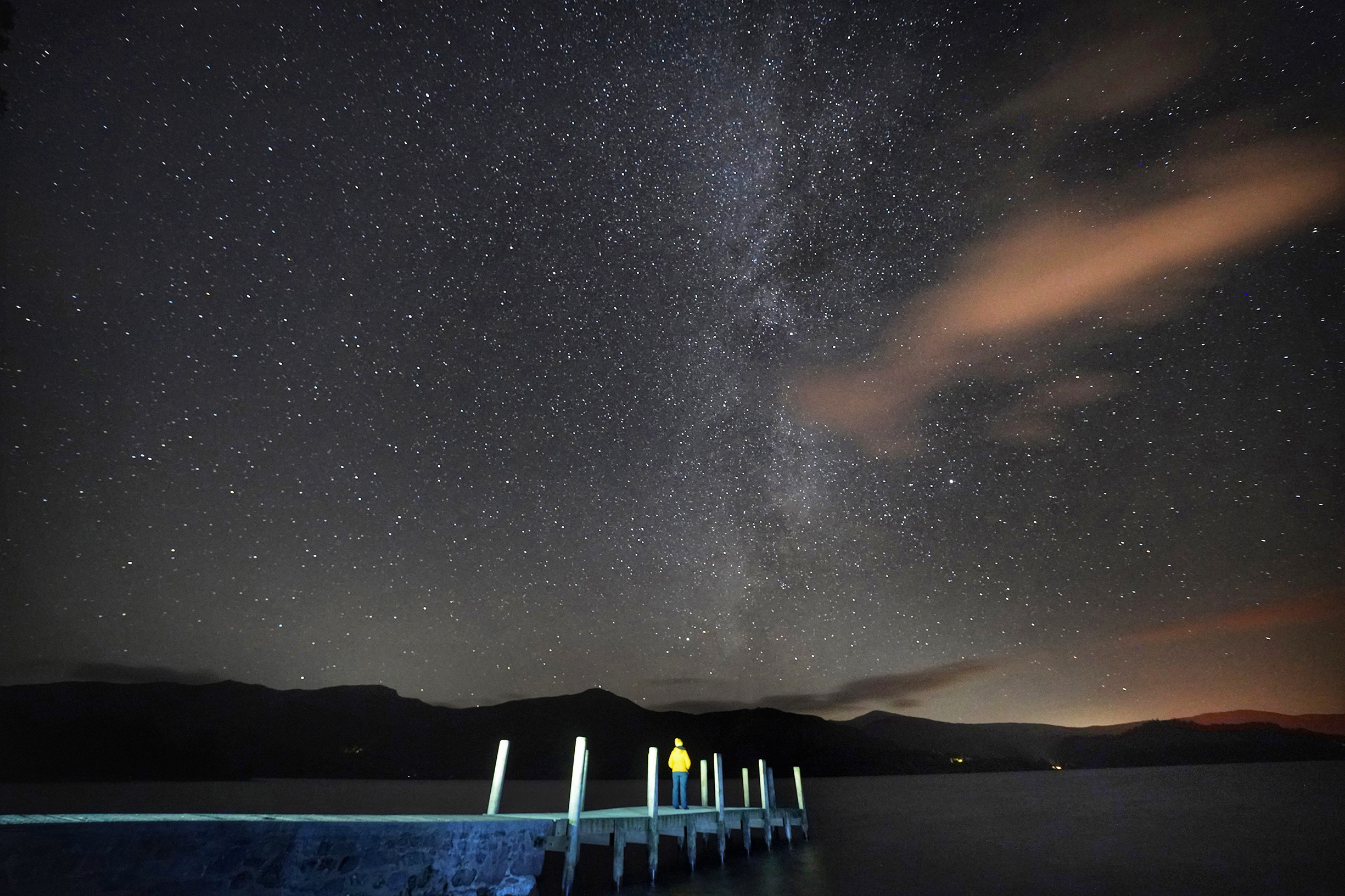 The Milky Way seen above Derwentwater in the Lake District.