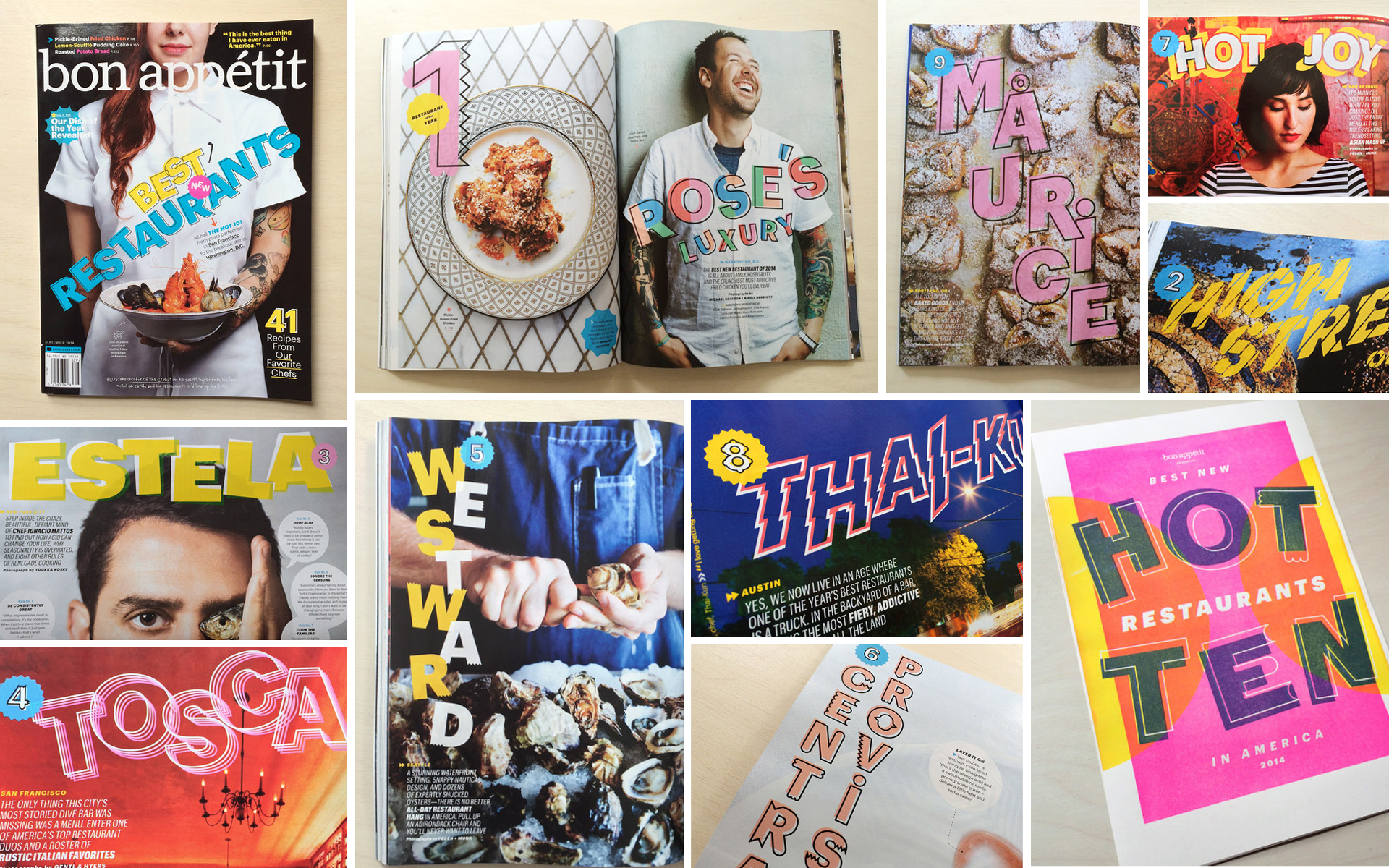 Lettering designs for Bon Appétit