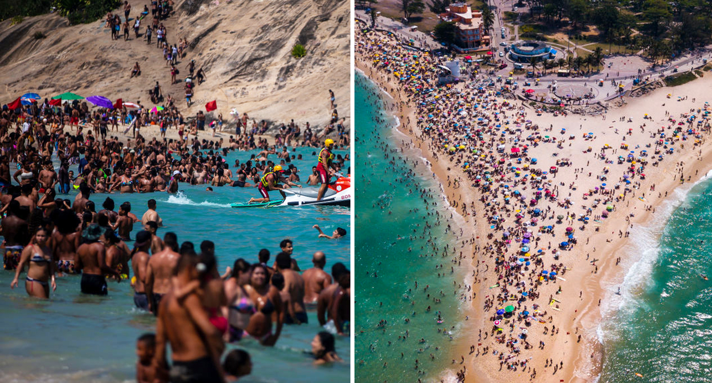 Shocking beach photos emerge as grim coronavirus record broken