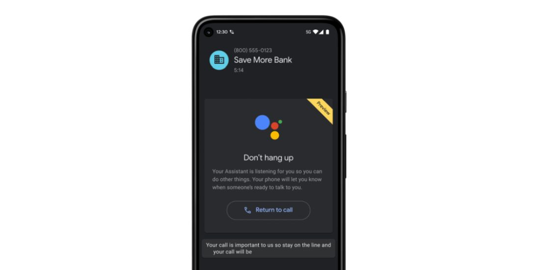 Google's 'Hold for Me' Assistant feature appears first on new Pixel phones #rwanda #RwOT #FGO5周年